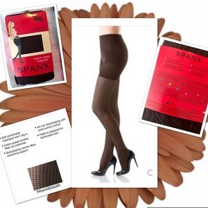 SPANX Pantyhose Tight End Patterned Hose NWT BROWN
